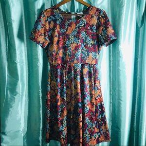 LuLaRoe Amelia Dress Sz XL Floral Print